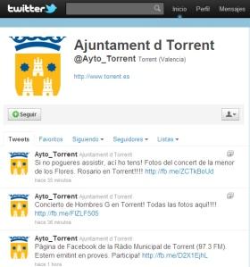 Ayuntamiento de Torrent en Twitter