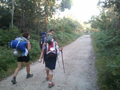 Patricia, Gema y ... en el Camino de Santiago